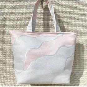 着物帯 リメイク 優しい色味が上品でオトナかわいい ハンドバッグ トート 1点もの 送料無料