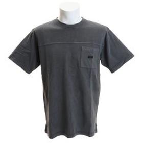 【Super Sports XEBIO & mall店:トップス】ヘビー天竺 ピグメントポケットTシャツ SAS1917204-4-BLK