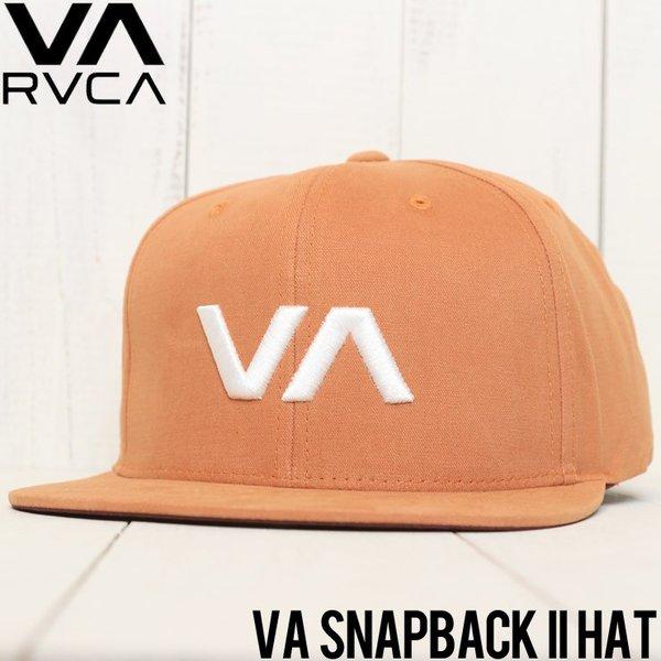 New RVCA VA II Mens Red Snapback Cap Hat