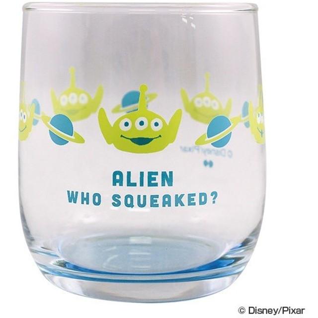 コップ ガラス 260ml トイストーリー エイリアン コースター付 キャラクター ( ディズニー ピクサー 食器 グラス ガラスコップ )