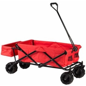 【Amazon限定ブランド】ウルトラスポーツ ハンドカート 持ち運びケース付き 折りたたみ式 耐荷重100kg レッド