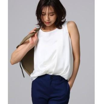 UNTITLED / アンタイトル ◆ライトサテン ノースリーブシャツ