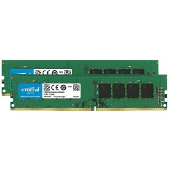 増設メモリ デスクトップ用 Crucial 16GB Kit DDR4-2666 UDIMM 8GB×2枚組 CT2K8G4DFS8266 [DIMM DDR4 /8GB /2枚]