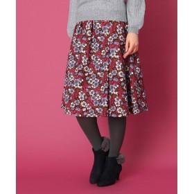 Couture Brooch(クチュールブローチ) 【WEB限定サイズ(LL)あり/手洗い可】レトロフラワースカート