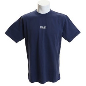 【Super Sports XEBIO & mall店:トップス】ヘビー天竺 刺繍ロゴTシャツ SAS1917205-3-NVY