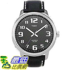 [106美國直購] 手錶 Timex Mens T28071 Easy Reader Black Leather Strap Watch _T01