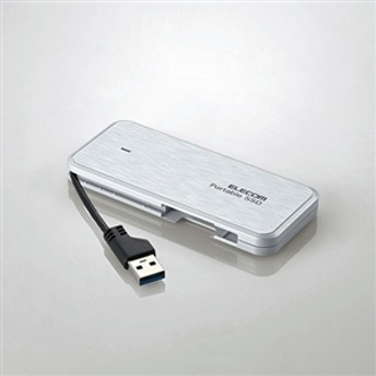【エレコム】 外付けポータブルSSD ESD-EC0480GWH ポータブルHDD
