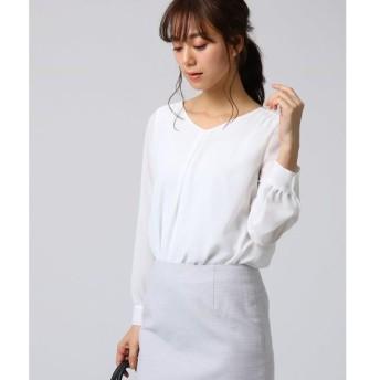 UNTITLED / アンタイトル ◆プレーヌツイル タックシャツ