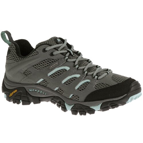 ├登山樂┤美國 MERRELL MOAB GORE-TEX 女健行用運動鞋-灰/藍 # ML32674