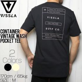 [クリックポスト対応] VISSLA ヴィスラ CONTAINER VINTAGE WASH POCKET TEE 半袖Tシャツ M423LCON