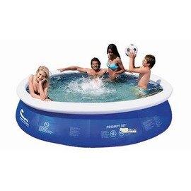 【碟形充氣游泳池-大加高號-360-6734L-直徑360*90cm-1套/組】圓形水池 3層夾網料 家庭碟形充氣游泳池 兒童學泳釣魚池-76033