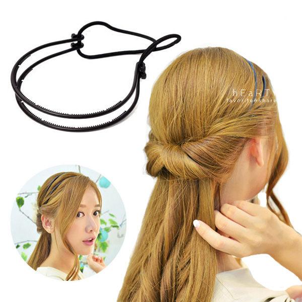 優雅公主頭盤髮髮帶 髮飾 頭飾 髮帶 盤髮 美髮工具