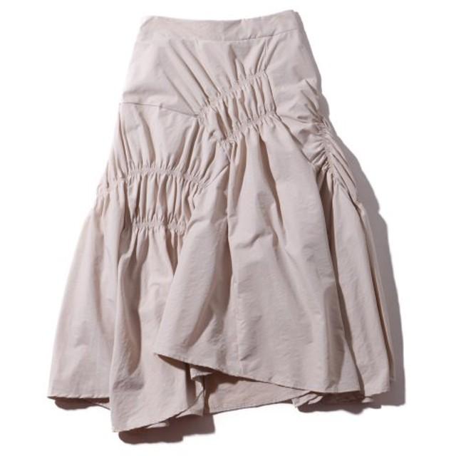 アトモスピンク atmos pink スカート シボリテクスチャー ロングスカートTX (BEIGE) 19SU-I