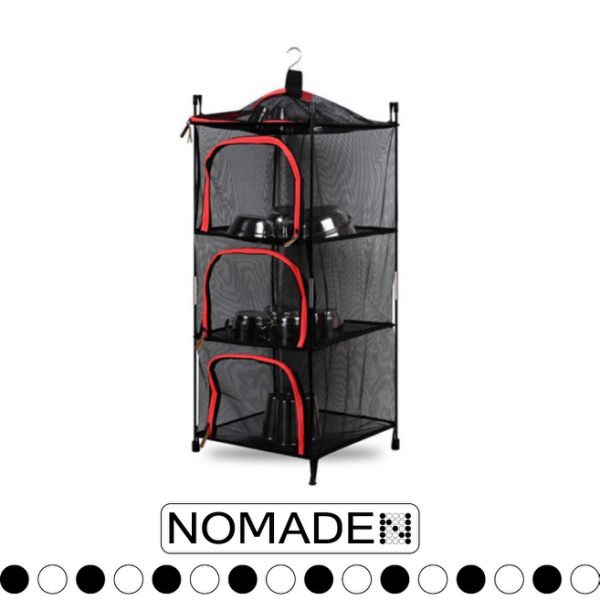 【NOMADE 兩用碗櫥櫃《紅》】N7193/碗櫥/碗籃/碗櫃/防塵/露營/悠遊山水