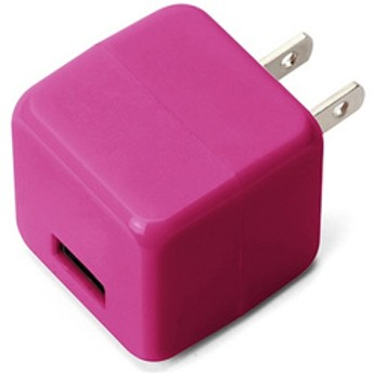 USB電源アダプタ 2.1A PG-UAC21A04PK ピンク