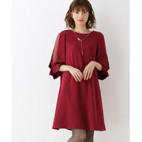 Couture Brooch(クチュールブローチ) 【WEB限定LLサイズ】シースルースリーブワンピース