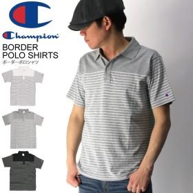Champion(チャンピオン) ボーダー ポロシャツ ポケット ポロシャツ 切り返しカットソー メンズ レディース