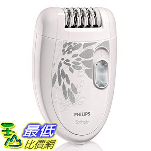 [美國直購] Philips 插電式 美體刀 HP6401 Satinelle Epilator, White/Gray