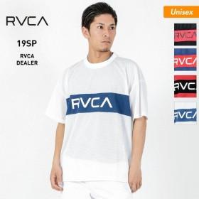 RVCA/ルーカ メンズ&レディース 半袖 Tシャツ メッシュ クルーネック トップス ロゴ ティーシャツ AJ041-311