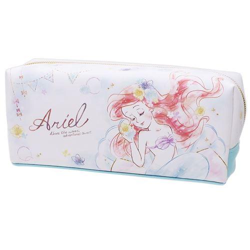 日貨 小美人魚 化妝包 盥洗包 刷具盒 筆盒 迪士尼 DISNEY Ariel 美人魚 正版 J00015110。人氣店家大賀屋的迪士尼、小美人魚 愛麗兒 Ariel有最棒的商品。快到日本NO.1的R