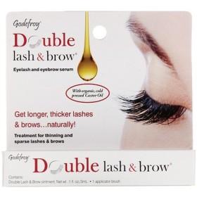 ダブルラッシュ&ブラウ、まつ毛&眉毛セラム、3ml