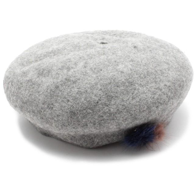 ベレー帽 - SHOO・LA・RUE ◆ポンポン付きベレー帽