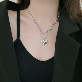 ネックレス ペンダント レディース アクセサリー 首飾り ファッション小物 服飾小物 シルバー シンプル ハート チェーン カジュアル かわいい
