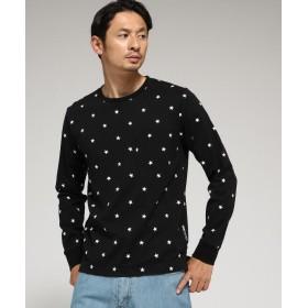 BASE CONTROL(ベースコントロール) スター総柄 ロンT Tシャツ WEB限定