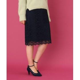 Couture Brooch(クチュールブローチ) 【WEB限定プライス/手洗い可】フラワーレースタイトスカート