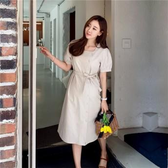 新作 ゆったり 韓国ファッション 大きいサイズ ワンピース レディース 半袖 ロング丈