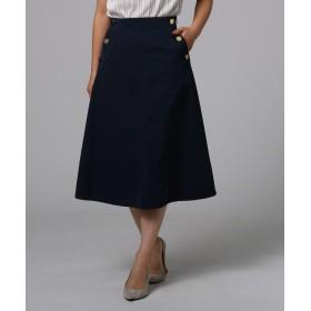 UNTITLED(アンタイトル) ツイルポケット釦スカート