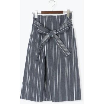 ひざ丈スカート - Te chichi オックスランダムストライプスカート