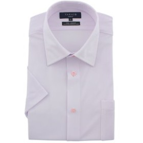 【TAKA-Q:トップス】形態安定スリムフィットボタンダウン半袖ニットビジネスドレスシャツ