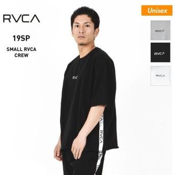 RVCA/ルーカ メンズ&レディース 半袖 Tシャツ クルーネック トップス ロゴ ティーシャツ AJ041-003
