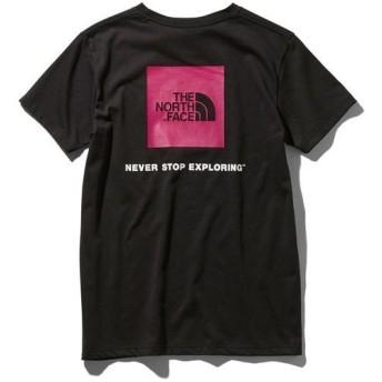 ザ・ノースフェイス THE NORTH FACE レディース アウトドア ウェア 半袖Tシャツ S/S SQUARE LOGO TEE NTW31957 K ブラック