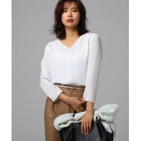 UNTITLED / アンタイトル ◆【洗える】【洗える】ラフィネツイル パイピングシャツ