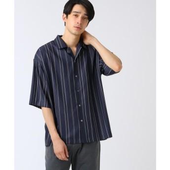 tk.TAKEO KIKUCHI / ティーケー タケオキクチ ストリングストライプビッグシャツ