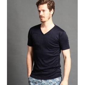 (MONSIEUR NICOLE/ムッシュニコル)半袖VネックTシャツ/メンズ 67ネイビー