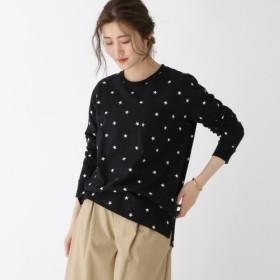 [マルイ] スター総柄 ロンT Tシャツ WEB限定/ベース ステーション(レディス)(BASE STATION Ladies)