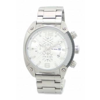 (ウォッチ)DIESEL ディーゼル オーバーフロー クロノグラフ デイト SS シルバー文字盤 メンズ クォーツ 腕時計 DZ-4203 DZ 4203(u)