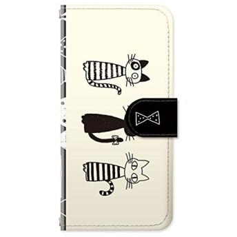 iPhone8 iPhoneケース (手帳型) [カード収納/ミラー付き/ストラップホール] Sippo (シッポ) MonochroRibbon CollaBorn (iPhone7/iPhone6