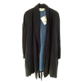 BLEU DE COCAGNE リネン×シルクリバーシブルコート ブラック×ブルー サイズ:M (和歌山店) 190613