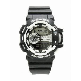 (ウォッチ)CASIO カシオ G-SHOCK アナログ デジタル ブラック ホワイト メンズ クォーツ 腕時計 GA-400 (k)
