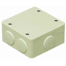未来工業 PVKボックス 防水型・おねじキャップ付 中形四角浅型 ミルキーホワイト 1個価格 PVK-ANPM