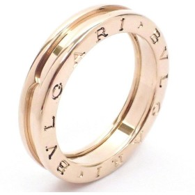 (ジュエリー)BVLGARI ブルガリ B.zero1 B-zero1 Bzero1 ビーゼロワン 1バンドリング 指輪 K18PG ピンクゴールド #59 XSサイズAN852422(k)