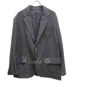 【SALE】 【30%OFF】 UNUSED シルク混ウール 2ボタンテーラードジャケット サイズ:2 (堅田店)