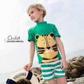キッズ 水着 男の子 セパレート水着 虎柄 ジュニア水着 子供用 かわいい 可愛い スイムウェア こども 男児 プール 海 夏 水遊び 海水浴