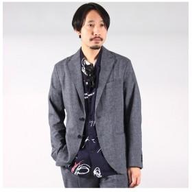 【50%OFF】 メンズビギ ミラクルリネンセットアップライトジャケット メンズ グレー S 【Men's Bigi】 【セール開催中】