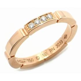 (ジュエリー)Cartier カルティエ マイヨン パンテール ウェディング リング 指輪 #50 10号 K18PG ピンクゴールド 4Pダイヤ(k)