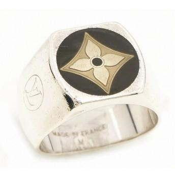 (ジュエリー)LOUIS VUITTON ルイ ヴィトン バーグ フルール モノグラム リング 指輪 Mサイズ #20 シルバー SV925 メンズ M65496(k)